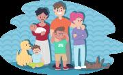 Zdjęcie przedstawiające rodzinę